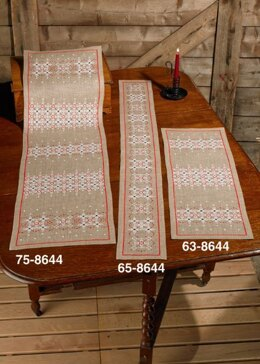 Permin Christmas Lines Tablerunner Cross Stitch Kit (16 x132cm)