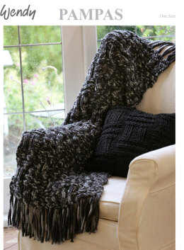 Rug and Cushion in Wendy Pampas Mega Chunky