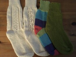2 needle sock pattern