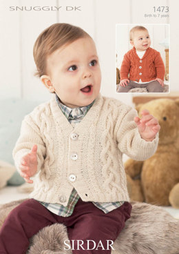 Cabled Childrens Cardigan in in Snuggly DK - 1473