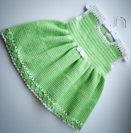 "Crochet pattern for the ""Cute and beautiful"" dress for age 18-24 months"