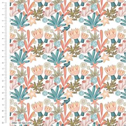 Craft Cotton Company Under The Sea - Coral