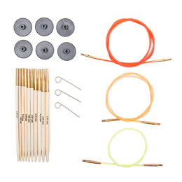 KnitPro Bamboo Interchangeable Needle Tips (Starter Set of 5)
