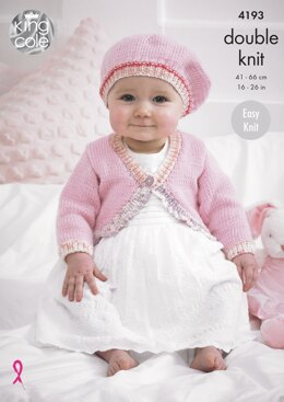 Baby Cardies and Beret in King Cole Cherished and Cherish DK - 4193 - Downloadable PDF