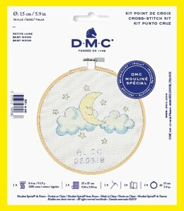 "DMC Baby Moon (with 6"" hoop) Cross Stitch Kit"
