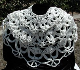 Lacy Skull Scarf