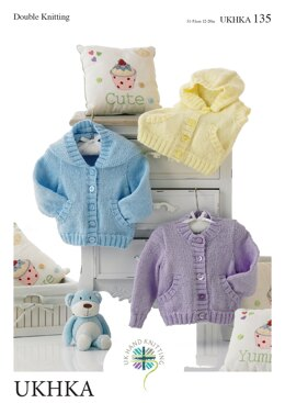 Jackets and Waistcoat in King Cole DK - UKHKA135pdf - Downloadable PDF