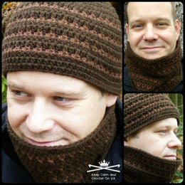 Ice-Flash Men's Hat and Cowl Set
