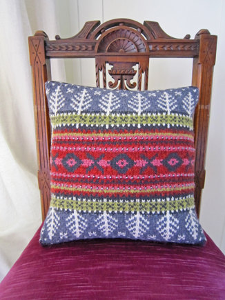 Norwegian Wood Cushion Cover Knitting Project By Jane Crowfoot