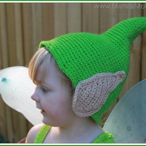 Tinkerbell Fairy Elf Gnome Pixie Hat with Ears Crochet pattern by ... f753636272e