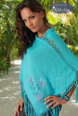 Ischia Poncho in Adriafil Cheope & Ricamo 8 - Downloadable PDF