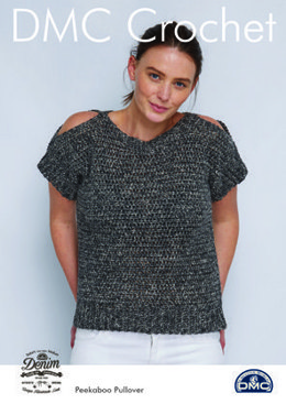 Peekaboo Pullover in Natura Denim in DMC - 15455L/2 - Leaflet
