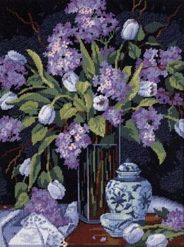 Dimensions Tulips and Lilacs Needlepoint Kit - 30 x 41 cm