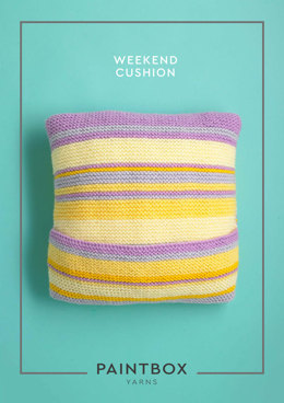 """Weekend Cushion"" - Free Cushion Knitting Pattern For Home in Paintbox Yarns Simply Chunky"
