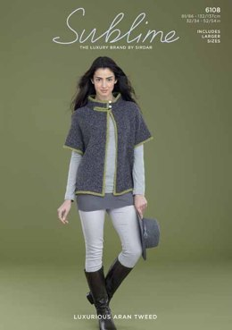 Cape in Sublime Luxurious Aran Tweed - 6108