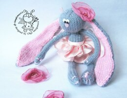 Bunny Peony doll knitted flat