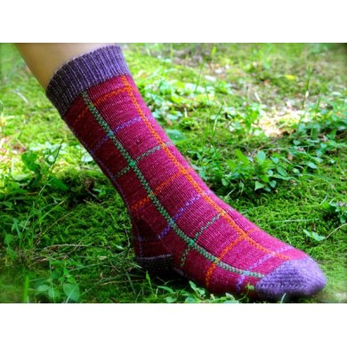Thistle and Forest Plaid Socks