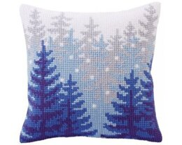 Collection D'Art Winter Forest Cross Stitch Cushion Kit