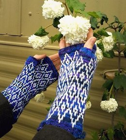 Silver laced mitts
