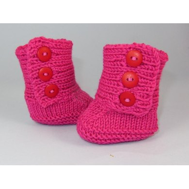 Baby 3 Button Booties (Bootees)