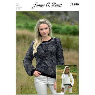 Sweaters in James C. Brett Chunky with Merino and Faux Fur - JB250