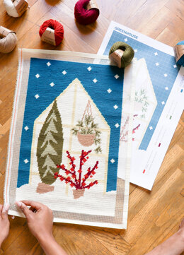We Are Knitters Petit Point Greenhouse Cross Stitch Kit