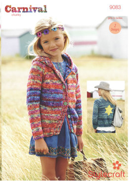 Jacket and Hoodie in Stylecraft Carnival - 9083