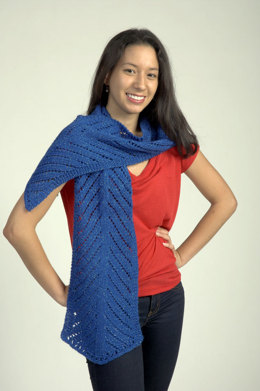 Two Directional Eyelet Scarf in Plymouth Yarn Holiday Lights - 2297