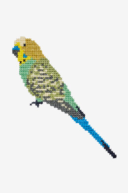 Budgie in DMC - PAT0388 - Downloadable PDF