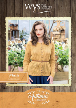 Freesia Cardigan in West Yorkshire Spinners Bluefaced Leicester Solids DK - Downloadable PDF