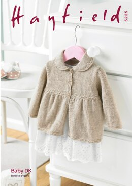 Coat in Hayfield Baby DK - 5225 - Downloadable PDF