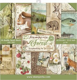 """Stamperia Intl Stamperia Double-Sided Paper Pad 12""""X12"""" 10/Pkg - Forest, 10 Designs/1 Each"""