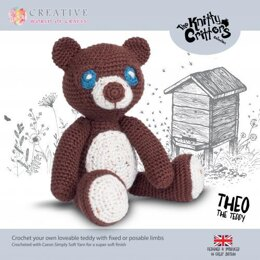 Creative World of Crafts Knitty Critters Theo The Teddy Bear - 28cm