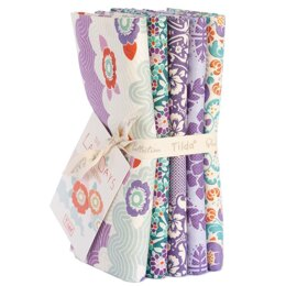 Tilda LazyDays Fat Quarter Bundle (Set of 5) - Lilac
