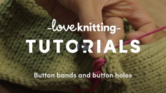 Knitting tutorial button bands