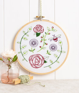 Hawthorn Handmade Rose Garden Contemporary Embroidery Kit