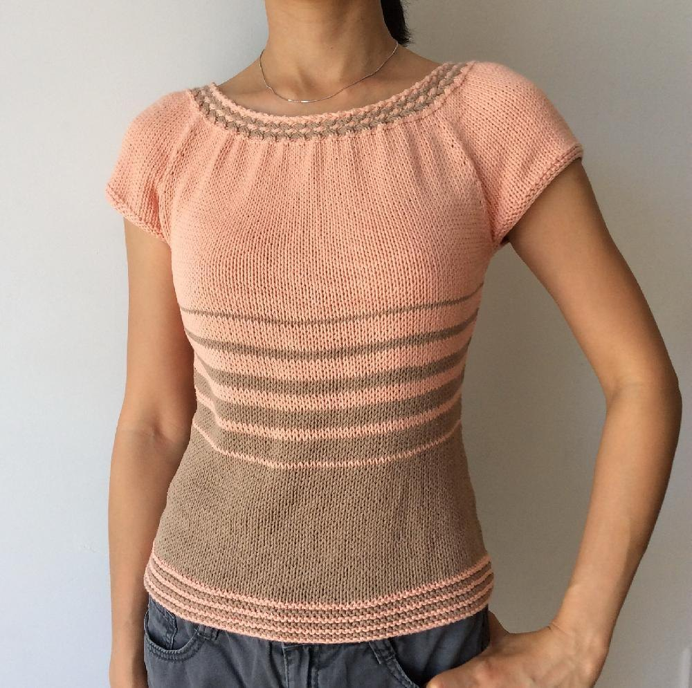 Women's WovenCable Summer Top Knitting pattern by Adeline ...