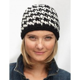 Houndstooth Hat in Patons Classic Wool Worsted