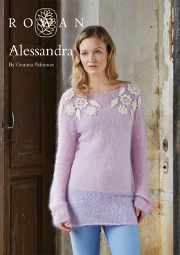 Alessandra Sweater in Rowan Kidsilk Haze & Fine Lace