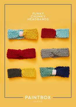 Funky Chunky Headbands in Paintbox Yarns Simply Super Chunky - Downloadable PDF