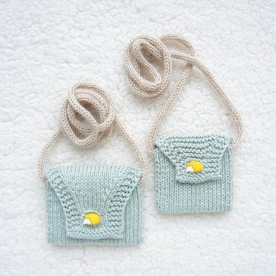 Ane X Imouto Childrens Envelope Bags Knitting Pattern By Na Yeo