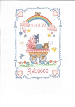 Creative World Of Crafts Over the Rainbow Cross Stitch Sampler Kit