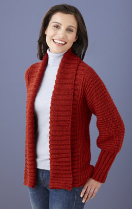 Drapey Cardigan in Lion Brand Vanna's Choice - L10572