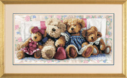 Dimensions A Row Of Love Cross Stitch Kit - 46cm x 23cm