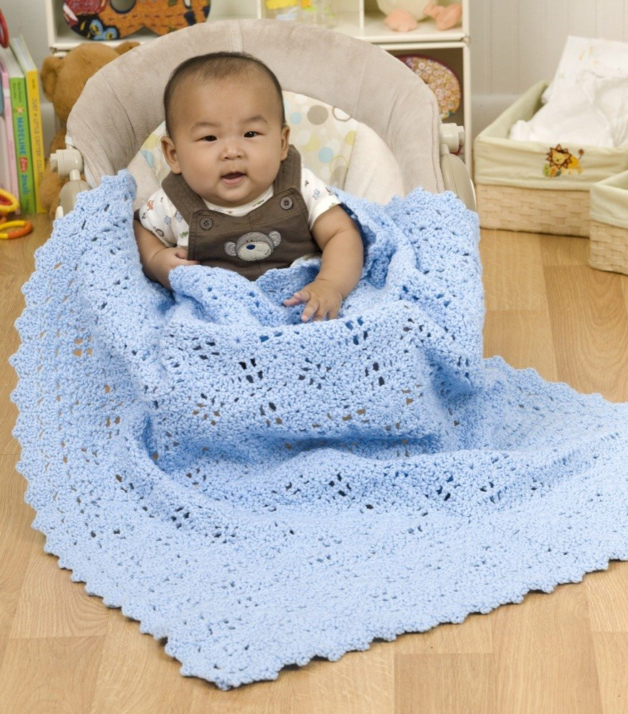 Building Blocks Baby Blanket In Red Heart Super Saver