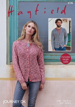 Cardigans in Hayfield Journey DK  - 8186 - Downloadable PDF