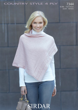 Victoria Poncho in Sirdar Country Style 4 Ply - 7344 - Downloadable PDF