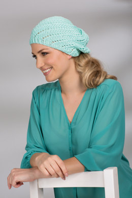 Cap with Lace Pattern in Schachenmayr Catania Grande - Downloadable PDF