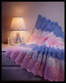 Crochet Baby Ripple  in Red Heart Baby Clouds - LW1279