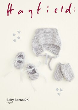 Hat, Shoes and Mittens in Hayfield Baby Bonus DK - 5422 - Downloadable PDF
